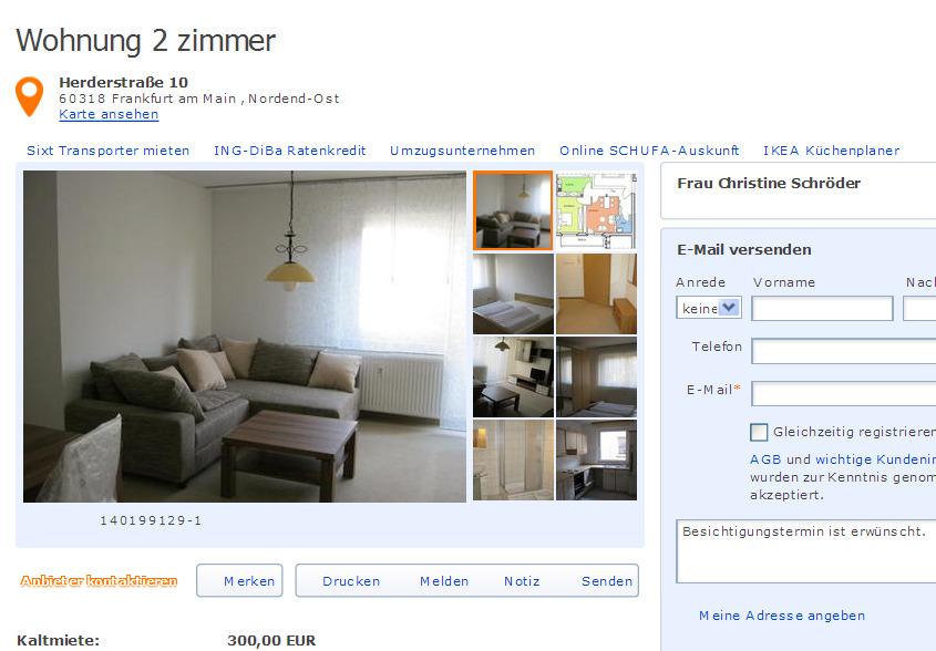 wohnung 1 zimmer berseeboulevard 5 gegen. Black Bedroom Furniture Sets. Home Design Ideas