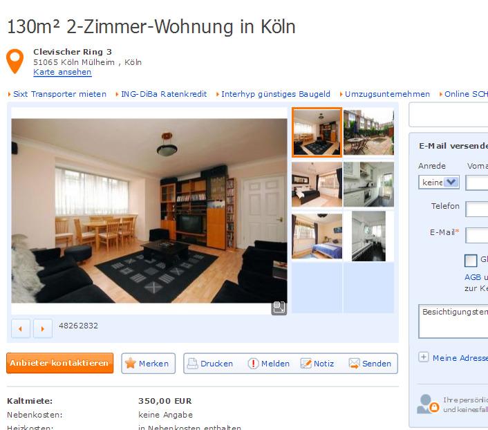 3 Zimmer Wohnung 92m² Reichenberger Straße 131
