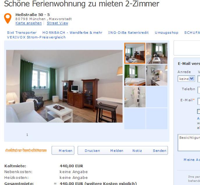 2 zimmer wohnung zur miete zum besten preis aus der stadt sch ne. Black Bedroom Furniture Sets. Home Design Ideas