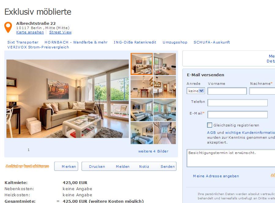 exklusiv m blierte albrechtstra e 22 10117 berlin mitte mitte. Black Bedroom Furniture Sets. Home Design Ideas