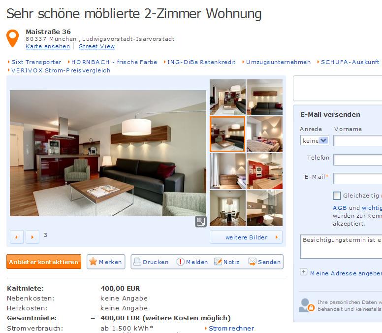 Wohnungsbetrug.blogspot.com: Exklusiv Möblierte