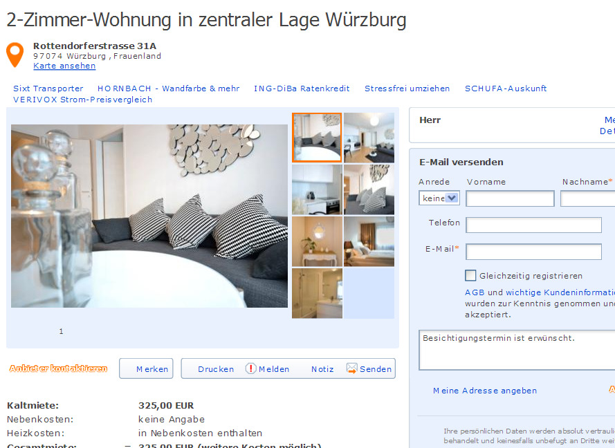 gro e sch ne wg geeignete 3 zi whg rostock gegen wohnungsbetrug against rental scammers. Black Bedroom Furniture Sets. Home Design Ideas