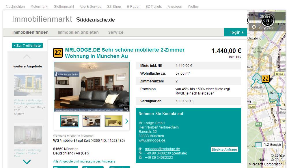 Sehr schöne möblierte 2-Zimmer Wohnung Behnstraße 21 22767 ...