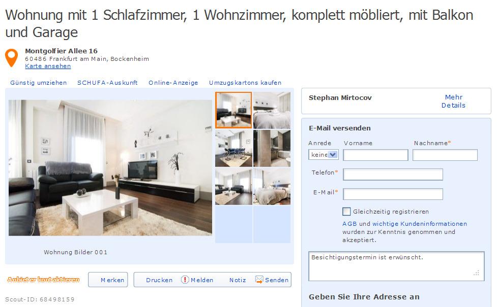 """peter-stephanskirchen@web.de alias Stephan Mirtocov """"Wohnung mit 1 Schlafzimmer, 1 Wohnzimmer ..."""