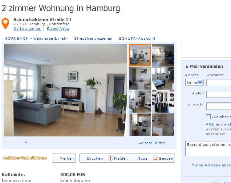 2 zimmer wohnung schmalkaldener stra e 14 22761 hamburg gegen wohnungsbetrug against rental. Black Bedroom Furniture Sets. Home Design Ideas