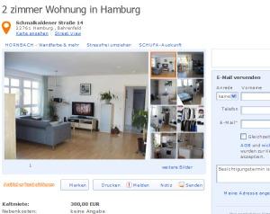 2 zimmer wohnung schmalkaldener stra e 14 22761 hamburg bahrenfeld vorkassebetrug fraud scam. Black Bedroom Furniture Sets. Home Design Ideas