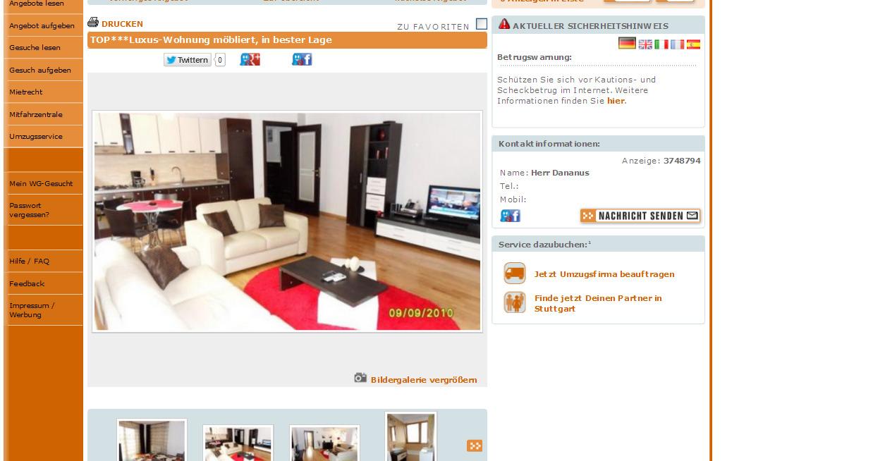 Wohnung In Stuttgart Mitte